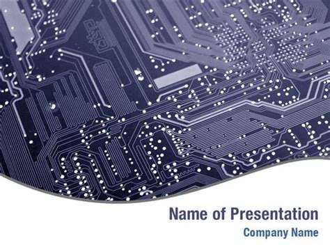circuit card template printed circuit board powerpoint templates printed