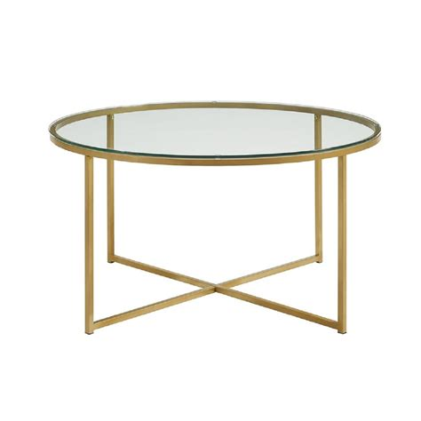 gold coffee table walker edison furniture company 36 in glass gold coffee