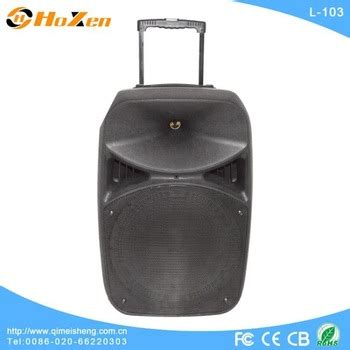 Speaker Bluetooth Stage L Ss promotional powered bluetooth portable trolley speaker with handle wheels fm radio buy