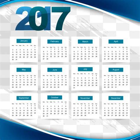 Calendario 2017 Colombia Vector Calendario 2017 Ondulado Azul Descargar Vectores Gratis