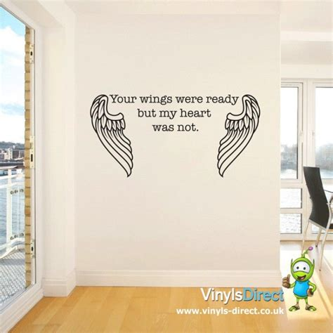 tattoo ideas your wings were ready your wings were ready but my heart was not wall sticker