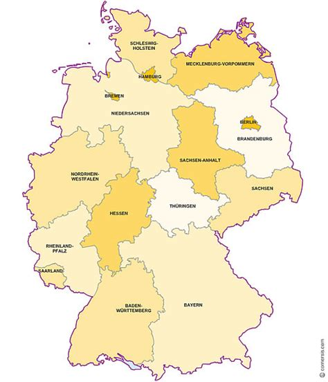 germany state map germany map