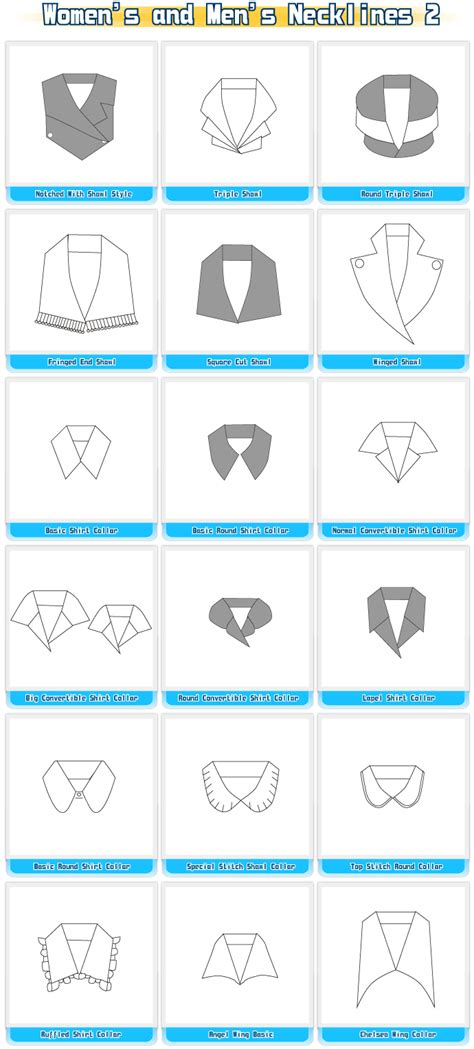 pattern making and its types collars necklines