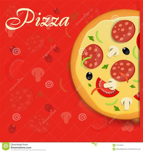 pizza menu template vector illustration royalty free stock