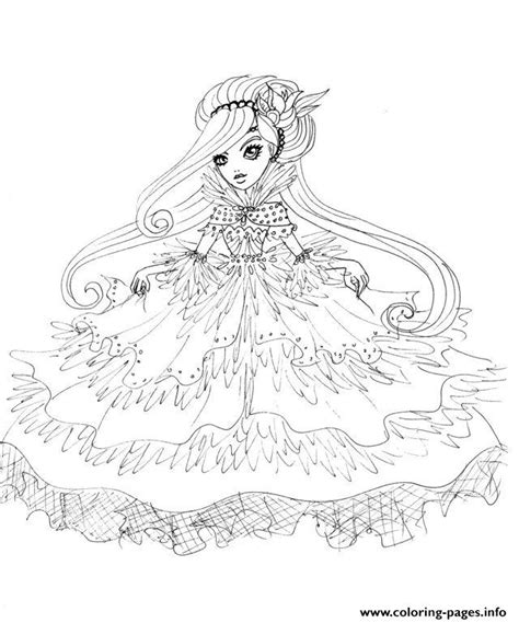 Duchessswan Ever After High Doll Coloring Pages Printable Printable Coloring Pages For High Free