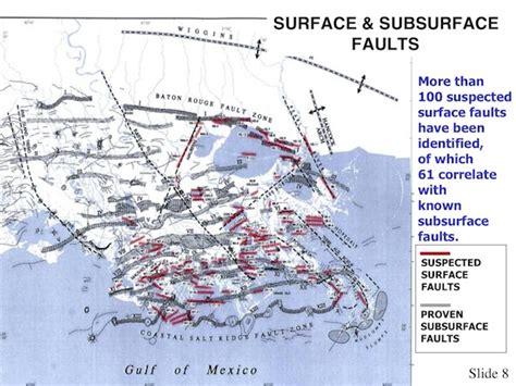 louisiana fault map explosive methane fault migration gulf to la salt domes