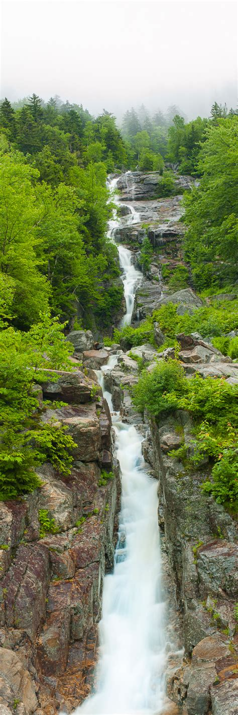 silver cascade nh new england waterfalls silver cascades white mountain national forest new