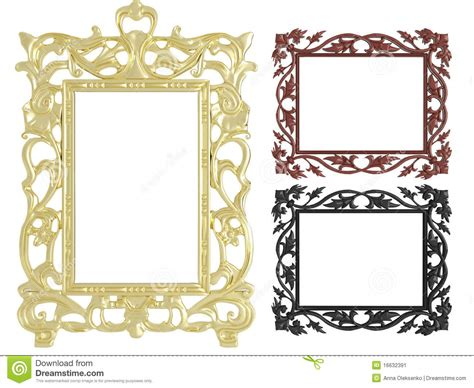decorative wall picture frames decorative vintage empty wall picture frames stock image
