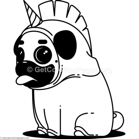 pug coloring pages pug unicorn coloring pages getcoloringpages org