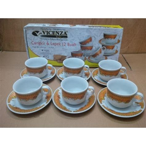Vicenza Dining Set vicenza cup saucer 12pcs cs 91 sudah termasuk packing