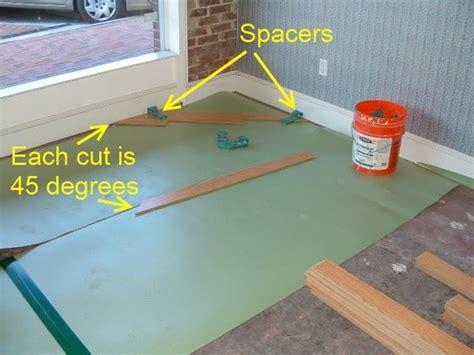 installing laminate at 45 degree angle