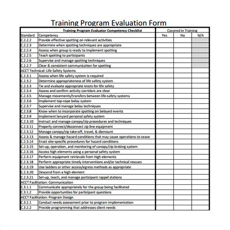 program evaluation forms program evaluation form 7 free documents in