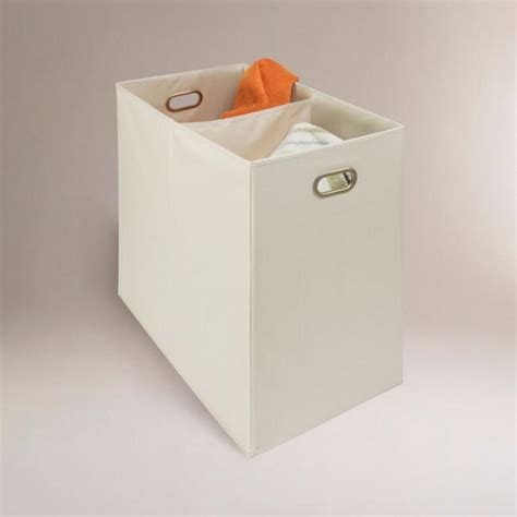 Canvas 2 Compartment Laundry Her World Market 2 Compartment Laundry