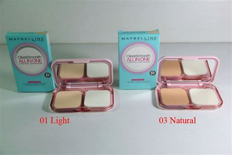 Bedak Maybelline Clear Smooth All In One Light two way cake maybelline clear smooth all in one toko