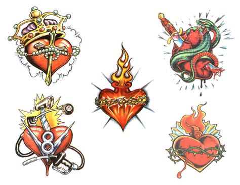 heartbeat tattoo flash heart tattoos and designs page 105
