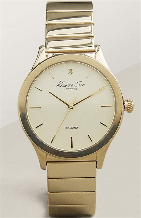 s kenneth cole gold tone 10025948
