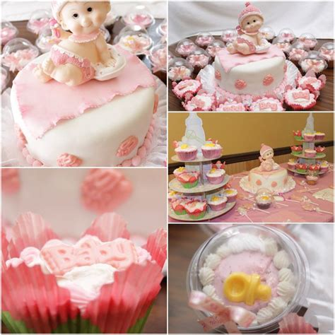 Home Made Birthday Decorations it s a girl baby shower cake cupcakes and decoration