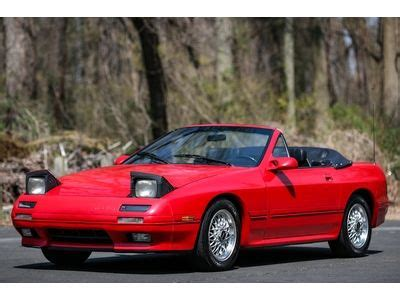find used 1990 mazda rx 7 convertible 5speed manual low miles rare loaded serviced in