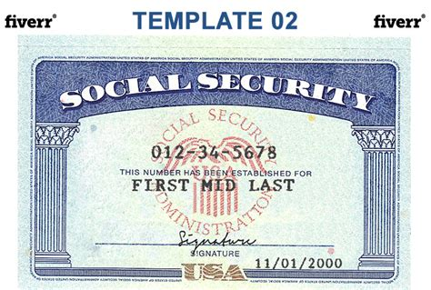 Make A Novelty Social Security Card Or Driver Licenses Fiverr Social Security Card Template Generator