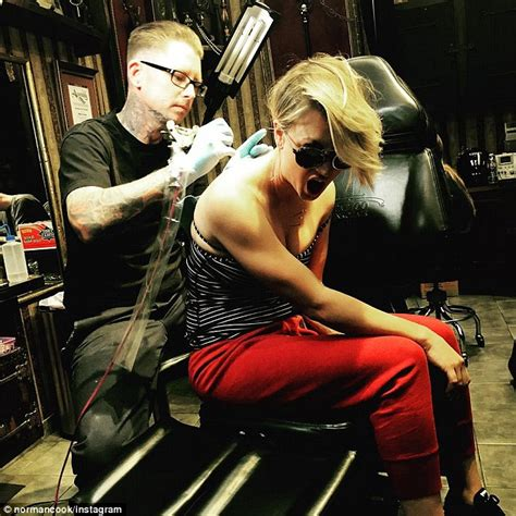kaley cuoco admits ink regret as she covers old tattoo