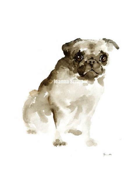 watercolor pug pug original watercolor painting original watercolor dogs p