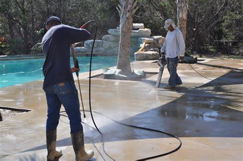 Procedure on how to acid wash or acid etch concrete