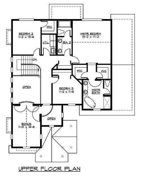 second story floor plans craftsman bungalow home with 3 bedrms 2805 sq ft plan