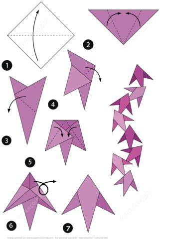 Medium Level Origami - how to make an origami fish free printable