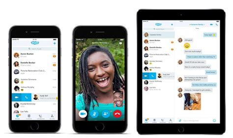 get skype for mobile skype updates ios and android apps with new design