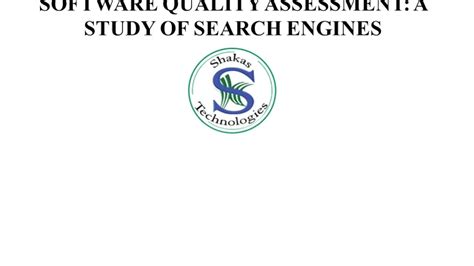 Study On Search Engine Metamorphic Testing For Software Quality Assessment A Study Of Search Engines