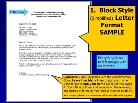 Block Business Letter Definition semi block style business letter meaning 28 images