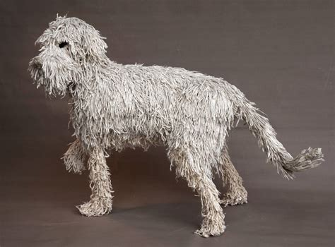 mop puppies standing mop sculpture by dominic gubb at stockbridge gallery