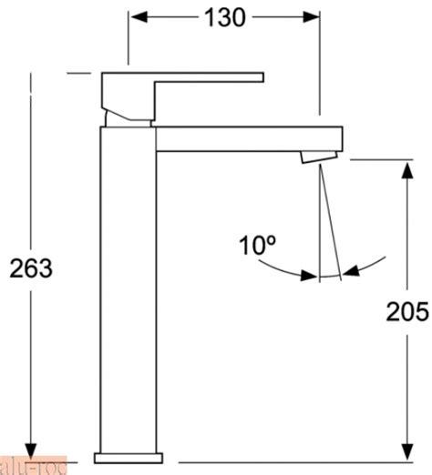 grifo monomando con cascada para lavabo tizziano