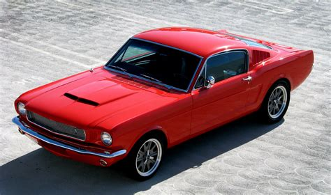 modded muscle cars 1965 ford mustang fastback resto mod muscle car
