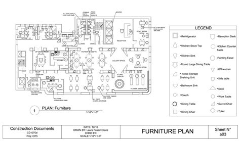 furniture layout plan in autocad construction documents furniture plan ffe plan