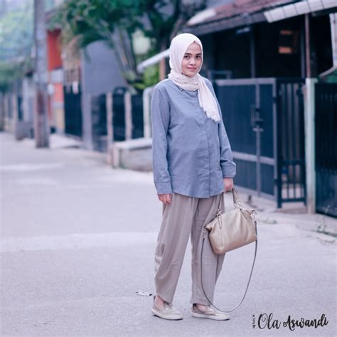 Ussy Pant 2 lookbook modest basic look ola aswandi