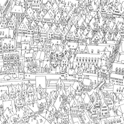 coloring book page of a city this coloring book takes you to fantastic cities both real