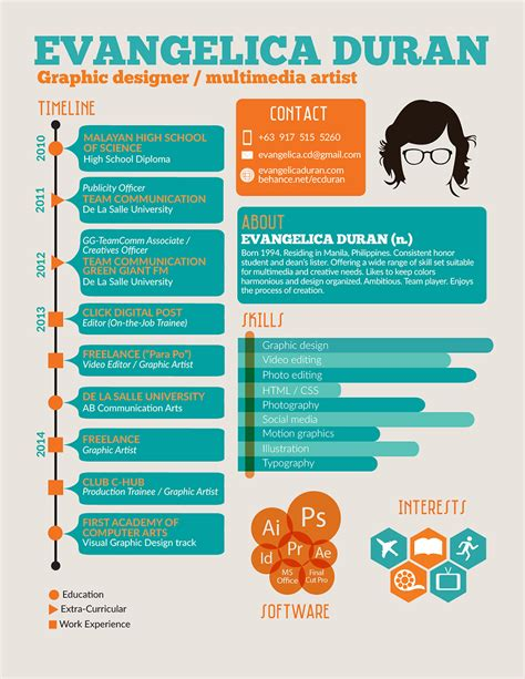 infographic resume builder flywheel 7 inspiring infographic resumes
