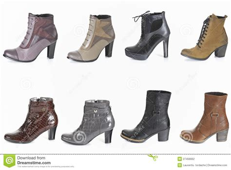different types of boots for different types of boot stock photography image