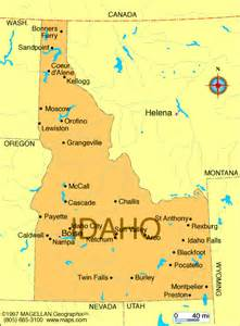 map of idaho usa dive idaho