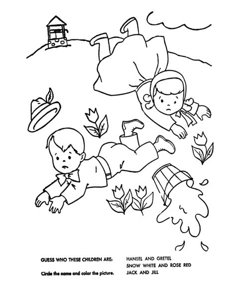 preschool coloring pages jack and jill jack y jill coloring pages