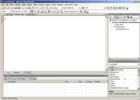 design html visual studio adding controls using visual studio asp net