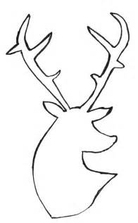 Reindeer Silhouette Outline by Deer Outline Cliparts Co