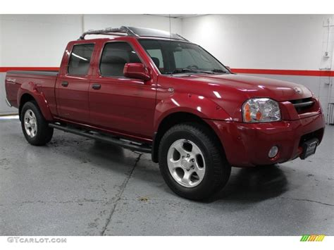 red nissan frontier 2002 molten lava red pearl nissan frontier sc crew cab 4x4