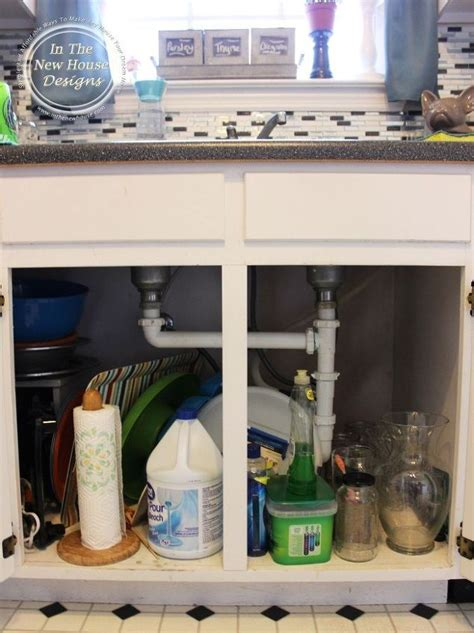 how to organize your kitchen sink the real way