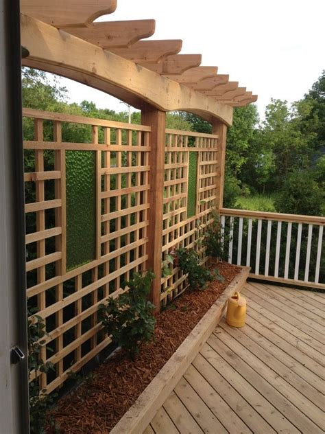 deck trellis diy home projects pinterest