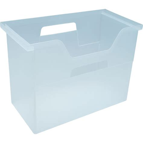 plastic filing storage plastic hanging file box clear in file storage boxes