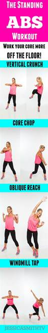 Floor Exercises For Abs by The Standing Abs Workout Work Your Core More Off The Floor