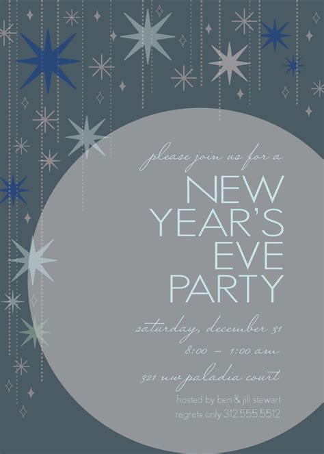 free new years invitation templates new years invitation templates