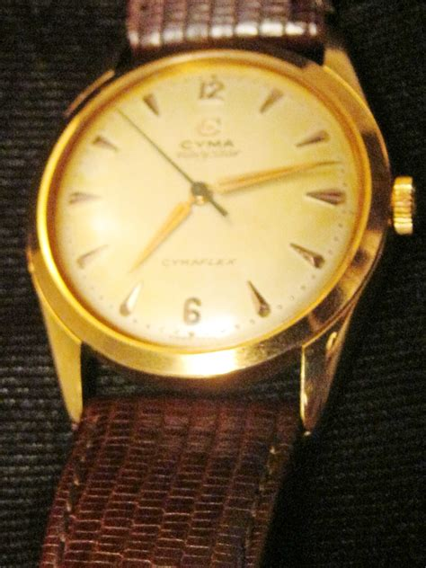 vintage cyma navy 9ct gold gents hobart town